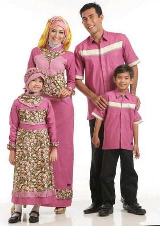 Contoh Baju Muslim Batik Modern 2019 10 - Tren terbaru Baju Batik Muslim Keluarga