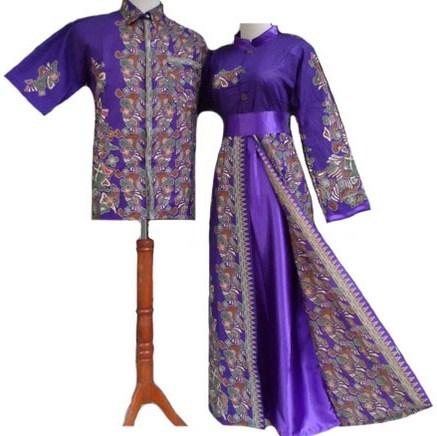 Contoh Baju Muslim Batik Modern 2018 3 - Baju Muslim ke Pesta Batik Sarimbit