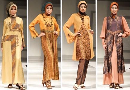 Contoh Baju Muslim Batik Modern 2018 6 - Baju dan Gamis Modern Warna Cokelat