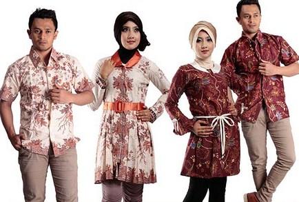 Contoh Baju Muslim Batik Modern 2018 8 - Batik Remaja Lebih Trendy