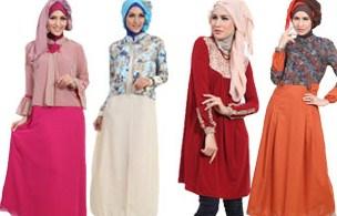 Contoh Desain Baju Muslim Wanita Masa Kini Oke 1 - 4 Busana yang Trendy