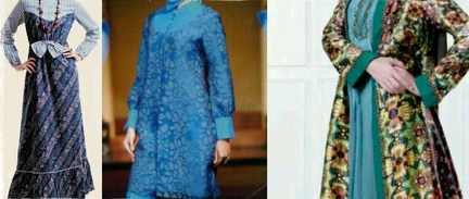 Contoh Desain Baju Muslim Wanita Masa Kini Oke 3 - Busana Batik Keren Terbaru