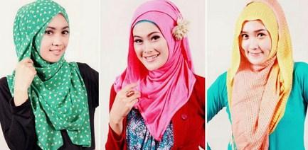 Contoh Desain Baju Muslim Wanita Masa Kini Oke 8 - Model Hijab Menutup Dada