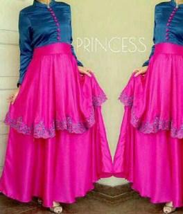 Contoh Desain Baju Muslim Wanita Masa Kini Oke 9 - Model Princess