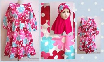 Contoh Model Baju Batik Muslim Anak Terbaru dan Terbaik 10 Keren 10 contoh model baju batik muslim anak terbaru terbaik,Model Baju Muslim Anak 1 Tahun