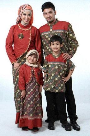 Contoh Model Baju Batik Muslim Anak Terbaru dan Terbaik 2 - Blazer Orange Batik Trendy