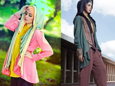 Contoh Model Baju Muslim Artis Risty Tagor 5 - Colorful by Risty Tagor
