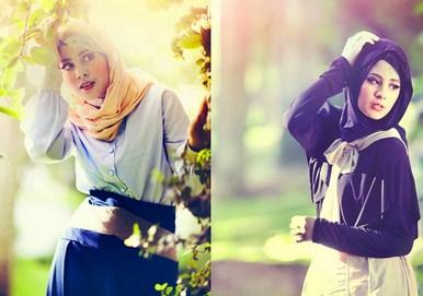 Contoh Model Baju Muslim Artis Risty Tagor 6 - Tetap Cantik dengan warna hitam