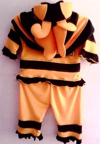 Contoh Model Desain Baju Muslim Bayi Balita Terbaru 4 - Bawahan Celana Jilbab Kumbang