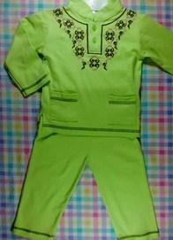 Contoh Model Desain Baju Muslim Bayi Balita Terbaru 7 - Baju Bayi Laki-laki Pria Plus Kopyah dan Songkok