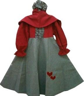 Contoh Model Desain Baju Muslim Bayi Balita Terbaru 9 - Gamis Panjang A line Hanbok Bayi Perempuan