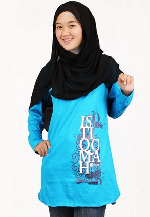 Contoh Model Kaos Muslim Remaja Trendy Terbaru 4 - Abstrak dan Tulisan