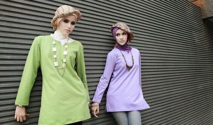 Contoh Model Kaos Muslim Remaja Trendy Terbaru 8 - Kaos Polos Leher v Trendy
