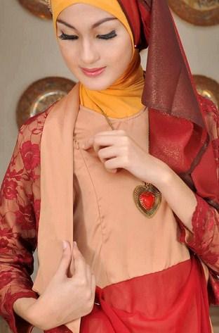 Gambar Contoh dan Model Baju Muslim Pesta Terbaru 7 - Brokat Blazer Gaun untuk Ke Pesta Muslim