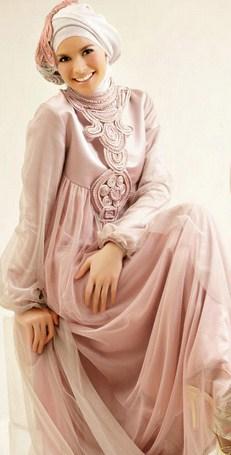 Gambar Contoh dan Model Baju Muslim Pesta Terbaru 9 - Gamis Muslim ke Pesta Pernikahan Keren Terbaik