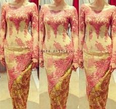 Contoh Baju Muslim Model Kebaya Modern Terbaik 4 - Model Kebaya Miring Silang