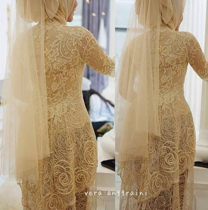 Contoh Baju Muslim Model Kebaya Modern Terbaik 7 - Simpel dan Anggun dari Vera Anggraini