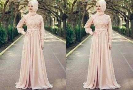 Contoh Baju Muslim Model Kebaya Modern Terbaik 8 - Gaun Kebaya Muslim Modern ke Pesta