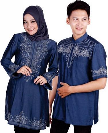 Contoh Model Baju Muslim Couple Populer 2015 1 - Warna Kalem Baju Muslim dan Koko