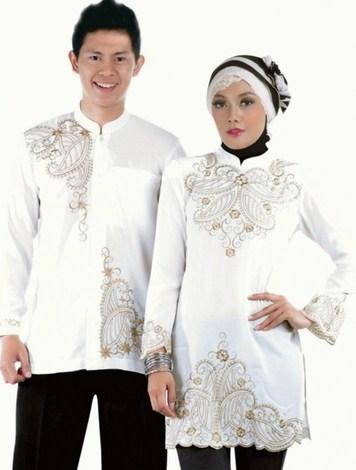 Contoh Model Baju Muslim Couple Populer 2015 3 - Baju Koko Lelaki Panjang lengannya