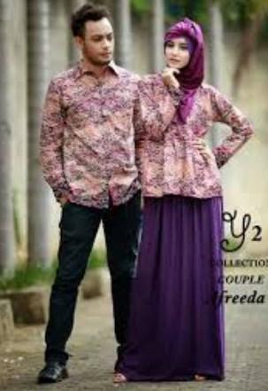 Contoh Model Baju Muslim Couple Populer 2018 7 - Model Baju Lelaki Kemaja Lengan Panjang