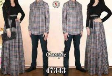 Contoh Model Baju Muslim Couple Populer 2018 9 - Pasangan Kotak-Kotak