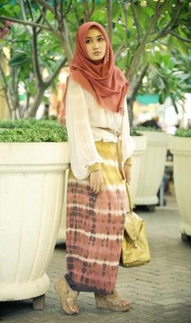 Contoh Model Baju Muslim Lebaran Idul Fitri Terbaru 1 - ala Dian Pelangi Simpel