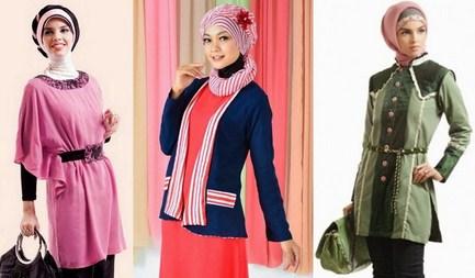 Contoh Model Baju Muslim Lebaran Idul Fitri Terbaru 4 - Baju Muslim Simpel dan Elegan