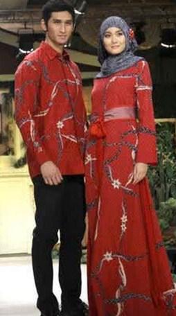 Contoh Model Baju Muslim Lebaran Idul Fitri Terbaru 7 - baju Muslim Lebaran Couple