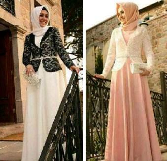 10 Contoh Model Desain Baju Muslim Brokat Terbaru 2019