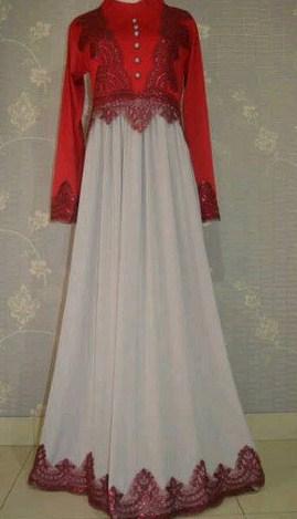 Contoh Model Desain Baju Muslim Brokat Terbaru 2019 6 - Baju gaun muslimah terbaru brokat elegan