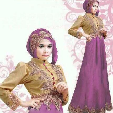Contoh Model Desain Baju Muslim Brokat Terbaru 2015 8 - Aksesoris Desain Gaun Muslim Brokat yang Cantik