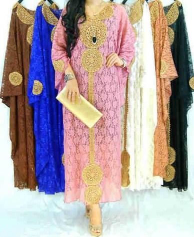 Contoh Trend Model Baju Muslim Kaftan Terbaru 2018 10 - Kaftan 3 perempat Cantik