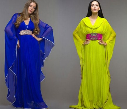 Contoh Trend Model Baju Muslim Kaftan Terbaru 2018 3 - Kaftan Simpel dan Elegan