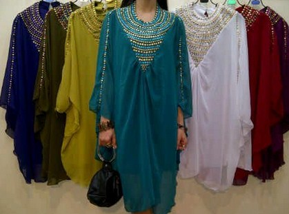 Contoh Trend Model Baju Muslim Kaftan Terbaru 2018 7 - Kaftan Baju Busana Atasan