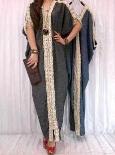 Contoh Trend Model Baju Muslim Kaftan Terbaru 2019 9 - Kaftan Ashanty Denim