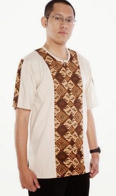 Contoh Gambar Model Baju Muslim Pria Terbaru 2015 11 - Pakaian Muslim Koko kombinasi Batik lengan pendek