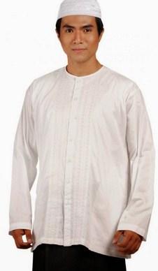 Contoh Gambar Model Baju Muslim Pria Terbaru 2015 12 - Trend Baju Koko Putih kaum Adam