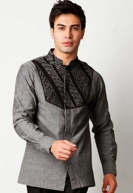 Contoh Gambar Model Baju Muslim Pria Terbaru 2018 15 - Baju Batik Muslim Model Koko