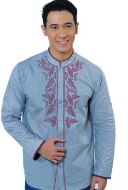 Contoh Gambar Model Baju Muslim Pria Terbaru 2018 16 - Baju Koko Simpel dan Oke