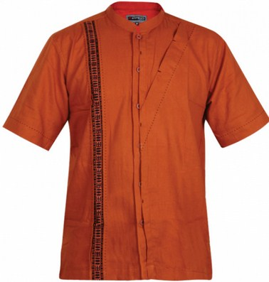 Contoh Gambar Model Baju Muslim Pria Terbaru 2015 18 - Baju Koko Oranye Oke