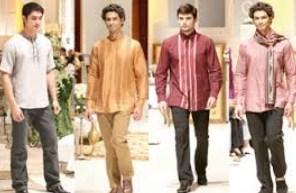 Contoh Gambar Model Baju Muslim Pria Terbaru 2015 6 - Koleksi Foto Koko Kombinasi Celana