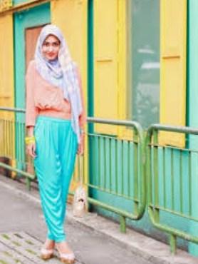 Gambar Model Baju Muslim Gaul Masa Kini 2015 10 - Colorful dan Modis era Sekarang untuk Muslimah