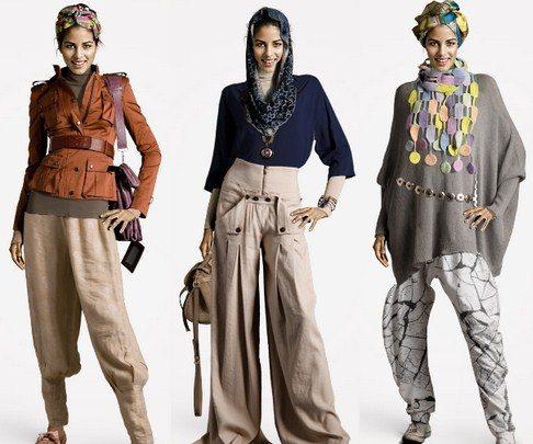Gambar Model Baju Muslim Gaul Masa Kini 2015 2 - Kombinasi Jaket dan Celana Terbaru