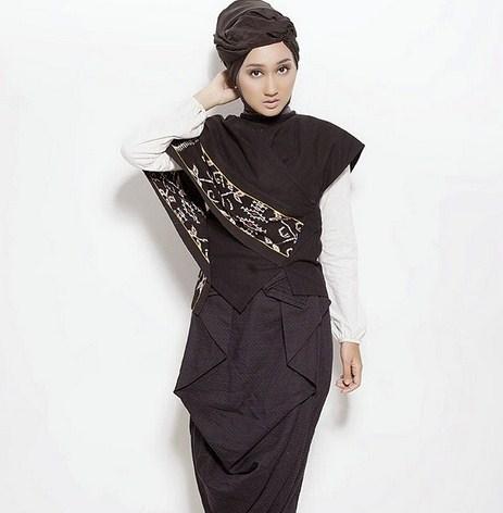 Gambar Model Baju Muslim Gaul Masa Kini 2018 5 - Busana Muslim Pakai Inner Gaul Masa Sekarang