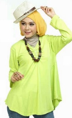 Gambar Model Baju Muslim Gaul Masa Kini 2015 7 - Baju Gaul Kombinasi Celana Jins Buat Muslimah