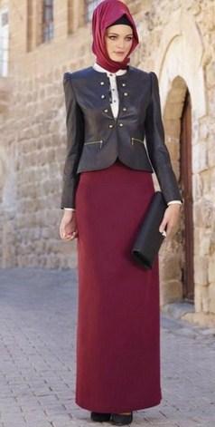 Gambar Model Baju Muslim Gaul Masa Kini 2018 9 - Pakai jas Kerja Muslimah yang Gaul dan Populer