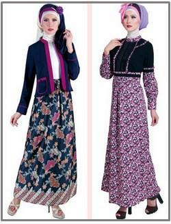 Model Gamis Masa Kini 25 Model Baju Gamis Batik Dengan