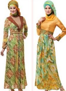 Model Baju Gamis Muslim Pesta Terbaru 2020 12 - Gamis Muslim Model Abstrak Terpopuler
