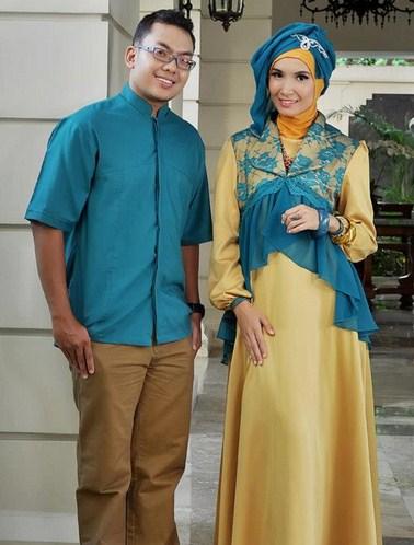 Model Baju Gamis Muslim Pesta Terbaru 2018 14 - Gamis Gaun Pesta Berpasangan Lelaki Perempuan Anggun Oke Terbaru